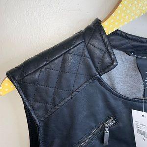 Lane Bryant Jackets & Coats - Lane Bryant NWT black faux vegan leather Moto vest